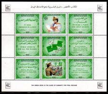 15.8.1985; Le Livre Vert De Mr Kadhafi, YT 1578 - 1586 En Feuillet, Neuf **, Lot 50326 - Libyen
