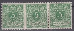DEUTSCHES REICH 1889-1900 - Mi.-Nr. 46 POSTFRISCH MNH** (Originalgummi) Dreierstreifen - Deutschland