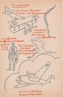Rare Fiche Sur L' As De L'aviation Guynemer Avec Au Dos Dessins Avions De Alain St Ogan - 1914-18