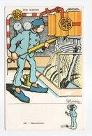 - CPA GERVESE (illustrateurs) - Mécanicien - Série NOS MARINS N° 48 - - Gervese, H.