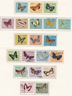 Butterflies Full Serie Mozambique 1953 Stamps - Mozambique