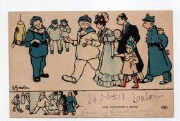 - CPA GERVESE (illustrateurs) - LES VISITEURS A BORD - Edition Le Deley - - Gervese, H.