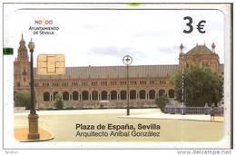Private  Spain Phonecard Sevilla P-605 TARJETA DE LA PLAZA DE ESPAÑA, ANIBAL GONZALEZ,  3 €  1850 Ex. Used - Privé-uitgaven