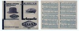 Petit Calendrier 1929 / La Casquette ELINA & Chapeau D'Etoffe - Calendriers