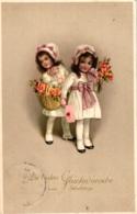Geburtstag, Mädchen Mit Rosen, 1915 - Geburtstag