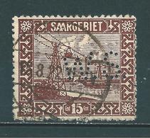Saar MiNr. 87 Perfins Firmenlochung WS (sab22) - 1920-35 League Of Nations