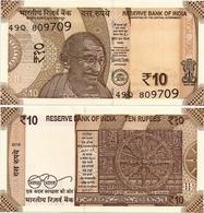 INDIA       10 Rupees       P-New       2018       UNC  [ Sign. Patel - No Letter ] - India