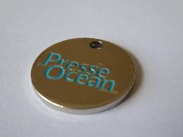 JETON CADDIE CADDY METAL  - PRESSE OCEAN - JOURNAL QUOTIDIEN - Trolley Token/Shopping Trolley Chip