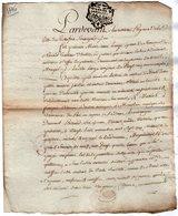 VP13.314 - Cachet Généralité De LA ROCHELLE - Acte De 1776 - Ratification LARGE - NAVAUD à BREUIL MAGNE - Seals Of Generality