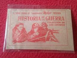 SPAIN. ANTIGUO SOBRE DE CROMOS SIN ABRIR CERRADO SOBRE CROMO CHOCOLATES MOHER HISTORIA DE LA GUERRA WAR HISTORY VER FOTO - Documentos Antiguos