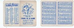 Petit Calendrier 1953 / Montargis / Hôtel De La Gloire - Calendriers