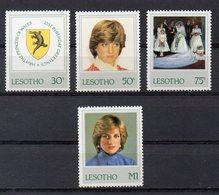 LESOTHO   Timbres Neufs ** De 1982   ( Ref 2396 )  Famille Royale - Lady Diana - Lesotho (1966-...)