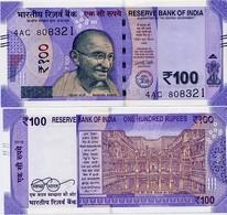 INDIA       100 Rupees       P-New       2018       UNC  [ Sign. Patel - No Letter ] - India