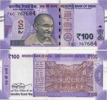 INDIA       100 Rupees       P-New       2018       UNC  [ Sign. Patel - Letter R ] - India
