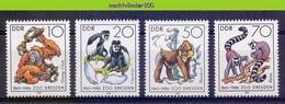 Mwe2671 FAUNA AAP APEN ZOOGDIEREN MONKEYS MAMMALS APES AFFEN SINGES GERMANY DDR 1986 PF/MNH - Apen