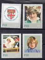 FIDJI   Timbres Neufs ** De 1982   ( Ref 2397 )  Famille Royale - Lady Diana - Fidji (1970-...)