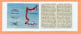 Petit Calendrier 1960 / Parfums Chéramy / Festival - Calendriers