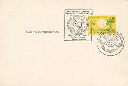 DC-1323 - FDCARD 1965 - 100 YEARS TELECOMMUNICATION ITU - UIT - MORSE TELEPHONE TELEGRAPH SATELLITE - BRAZIL - Telecom