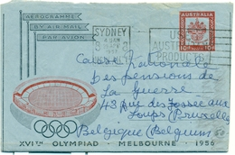 Aerogramme - By Air Mail - Australia XVI° Olympiad Melbourne 1956 - Jeux Olympiques