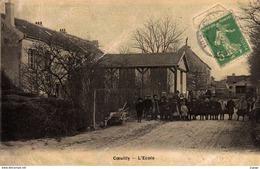 COEUILLY.  L'Ecole  Carte écrite En 1906    2 Scans - Champigny Sur Marne