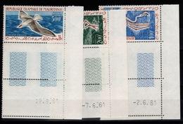 Mauritanie - Poste Aérienne YV 18 à 20 N** Coin Daté Complete Oiseaux - Mauritanie (1960-...)