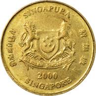 Monnaie, Singapour, 5 Cents, 2000, Singapore Mint, TTB, Aluminum-Bronze, KM:99 - Singapour
