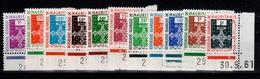 Mauritanie - Service YV 1 à 11 N** Coin Daté (sauf Le 15 Frcs Qui Est Bien En Coin Mais Il N'y A Pas De Date) - Mauritanie (1960-...)
