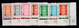 Mauritanie - Taxe YV 27 à 33 N** BdF Coin Daté - Mauritanie (1960-...)