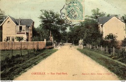 COEUILLY.  Rue Paul-Bert  Carte écrite En 1908   2 Scans - Champigny Sur Marne