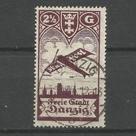 Danzig, Flugpostmarke Nr. 206 Gestempelt, Geprüft BPP - Danzig