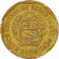 Monnaie, Pérou, 20 Centimos, 2009, Lima, TB+, Laiton, KM:306.4 - Pérou