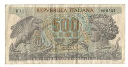 Italy 500 Lire Aretusa 20/06/1966 - [ 2] 1946-… : Républic