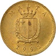 Monnaie, Malte, Cent, 1991, TTB, Nickel-brass, KM:93 - Malta