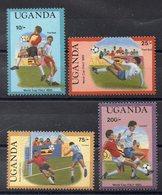 OUGANDA   Timbres Neufs ** De 1989   ( Ref 2404)  Sport -football - Ouganda (1962-...)