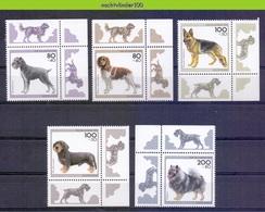 Mwe2681 FAUNA HONDEN ZOOGDIEREN SCHNAUTZER GERMAN SHEPHERD DOGS MAMMALS HUNDE CHIENS PERROS DEUTSCHLAND 1995 PF/MNH # - Honden