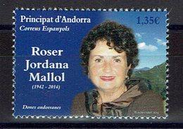 TIMBRE ANDORRA 2018 MNH FEMMES CÉLÈBRES - TOURISME - ROSER JORDANA MALLOL - Mujeres Famosas