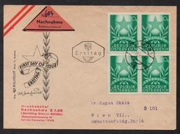 ESPERANTO - AUTRICHE / 1949 ENVELOPPE FDC CONTRE REMBOURSEMENT (ref LE2628) - Esperanto