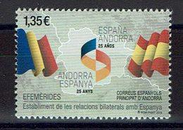 TIMBRE ANDORRA 2018 MNH établissement De Relations Bilatérales Avec L'Espagne. - Historia