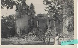 DIORS ( Prés De Châteauroux) : Le Château Bombardé Et Démoli (1944) Photo Trés Rare - Francia