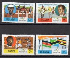 OUGANDA   Timbres Neufs ** De 1976   ( Ref 2404 C)  Sport -JO - Ouganda (1962-...)