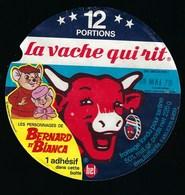 Etiquette Fromage Fondu - Vache Qui Rit - Bel 12 Portions  Bernard Et Bianca 18 Mai 78  A Voir ! - Cheese