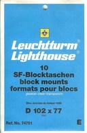 Leeuchtturm - Blocs 102x77 Fond Transparent (Réf. 74761) - Bandes Cristal