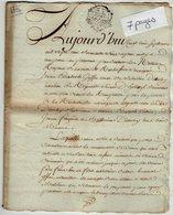 VP13.317 - Cachet Généralité De LA ROCHELLE - Acte De 1776 - Inventaire GRIFFON - DIETSCHY Militaire Suisse à ROCHEFORT - Cachets Généralité
