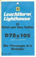 Leuchtturm - Blocs 78x105 Fond Transparent (Réf. 74710) - Taschine