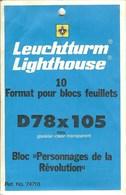 Leuchtturm - Blocs 78x105 Fond Transparent (Réf. 74710) - Bandes Cristal