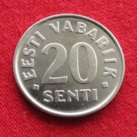 Estonia 20 Senti 2004 KM# 23a Estonie - Estonie