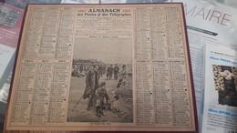 Calendrier Almanach 1917 De L'herault 34 Avec Ces 2 Feuilles Au Dos Carte Des Chemin De Fer Et Comunes De L'lheraut - Calendriers
