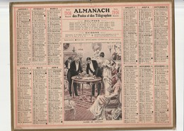 Calendrier Almanach 1916 De L'herault 34 Avec Ces 2 Feuilles Au Dos Carte Des Chemin De Fer Et Comunes De L'lheraut - Calendriers