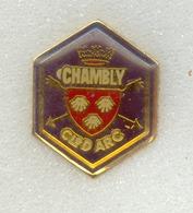 Rare Pin's Tir à L'ar Archery Chauny (département 02) - Tir à L'Arc