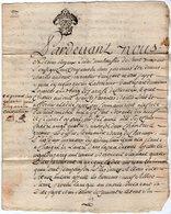 VP13.318 - Cachet Généralité POITIERS - SAINT MAIXENT - Acte De 1777 - Bail Mrs Ch. ANDOUET & GUERIN à CHERVEUX - Seals Of Generality